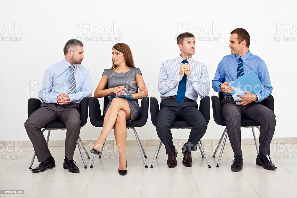 Business people in chairs  Adult Stock Photo