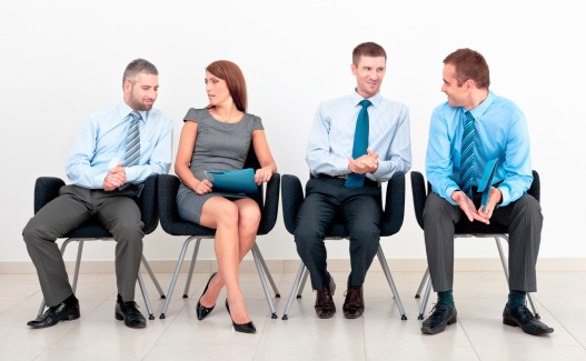 Business People In Chairs Stock Photo - Download Image Now