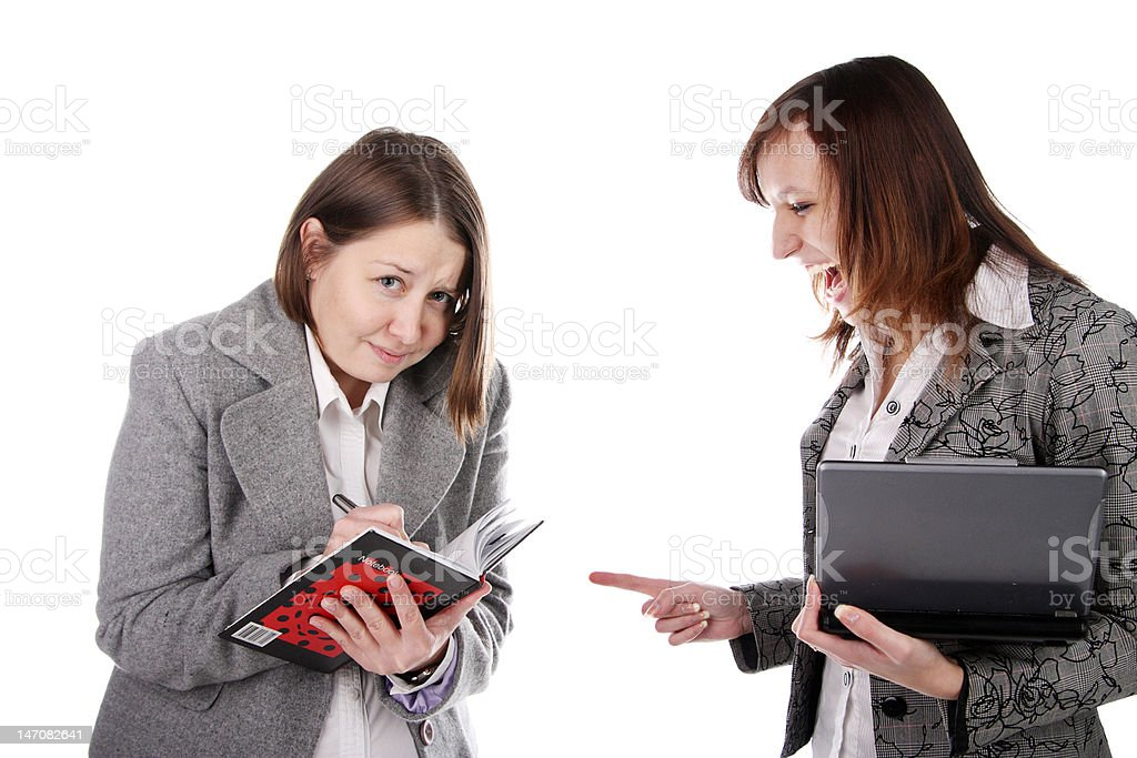 Business people in conflict royalty-free stock photo