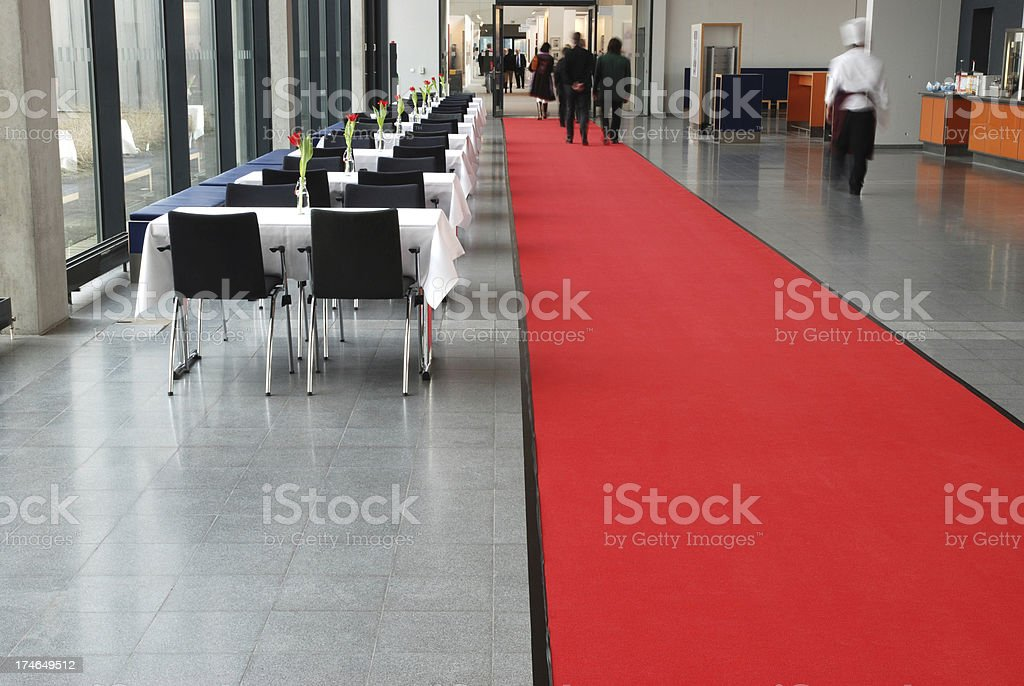 Business people  in convention center stock photo