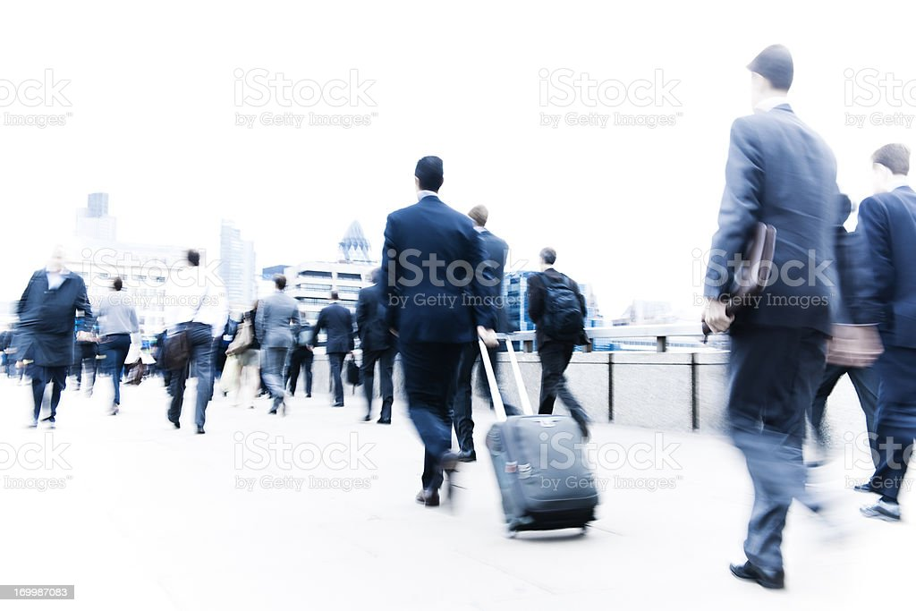 Business people in London city royalty-free stock photo