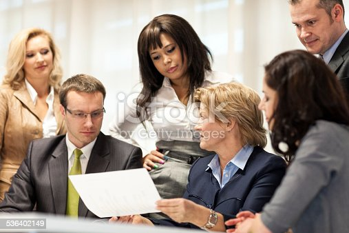 istock Business People In Meeting At Office Table 536402149