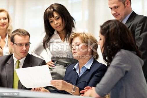 istock Business People In Meeting At Office Table 536402151