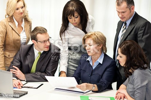 istock Business People In Meeting At Office Table 536402159
