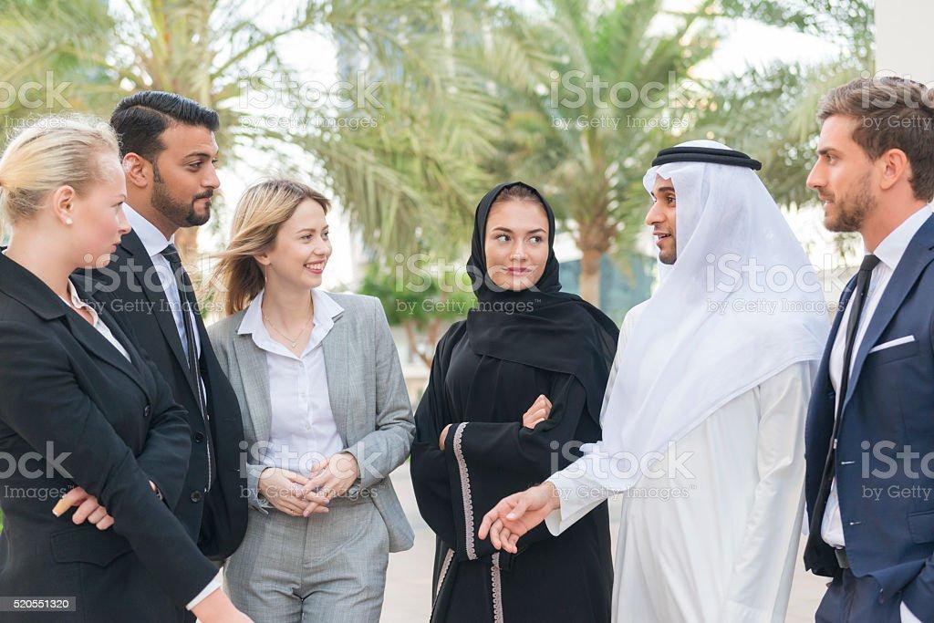Pessoas de negócios no Oriente Médio - foto de acervo