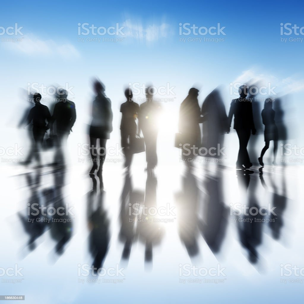Business People in motion stock photo