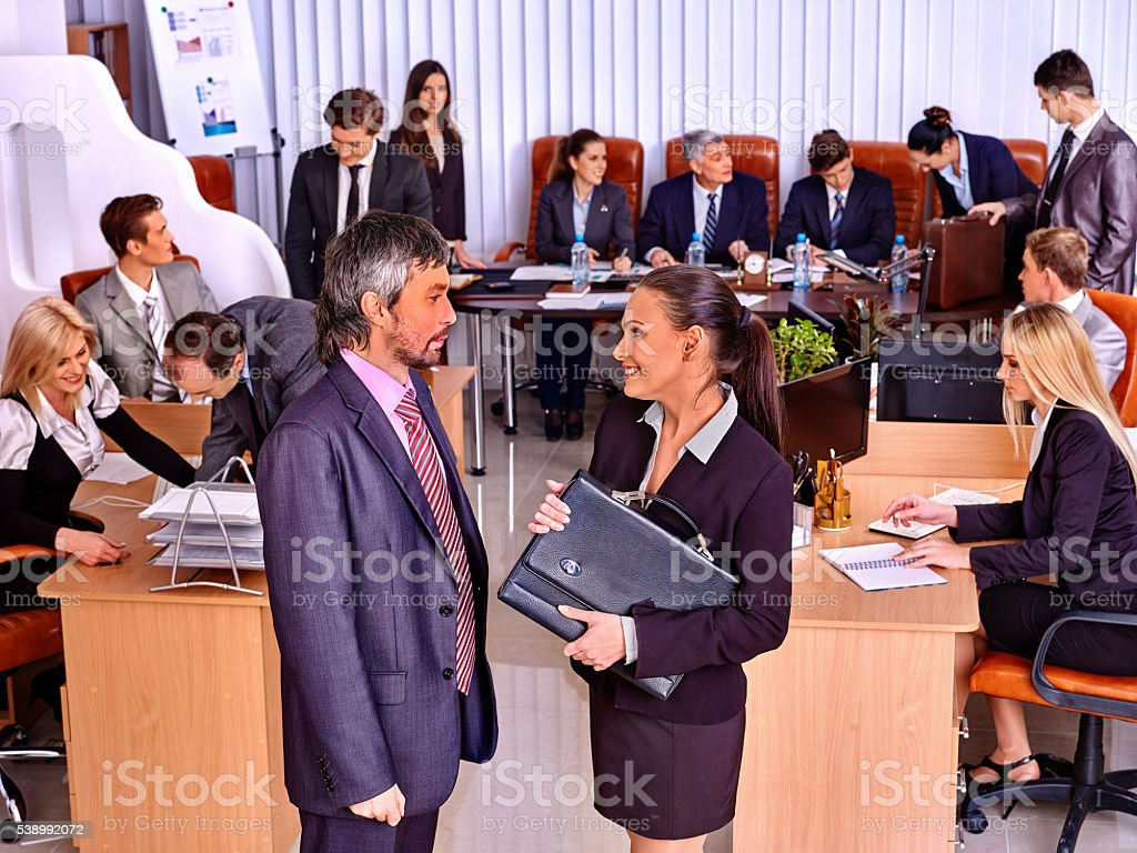 Business people in office. stock photo