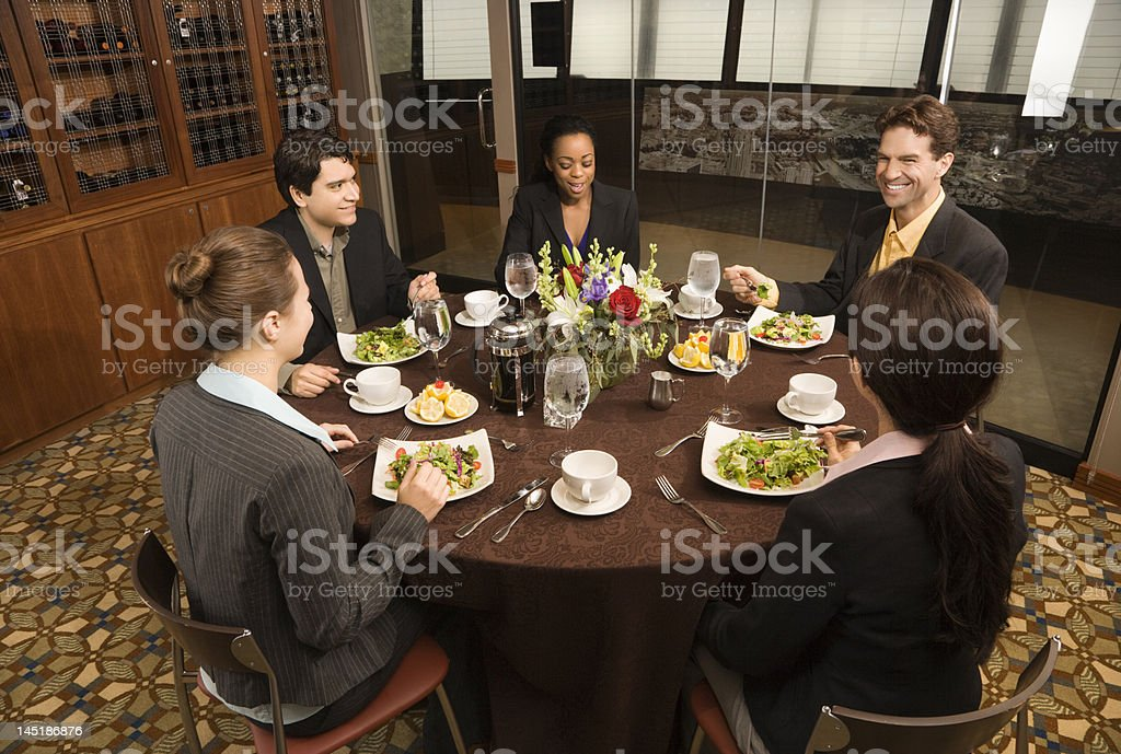 Business people in restaurant. royalty-free stock photo