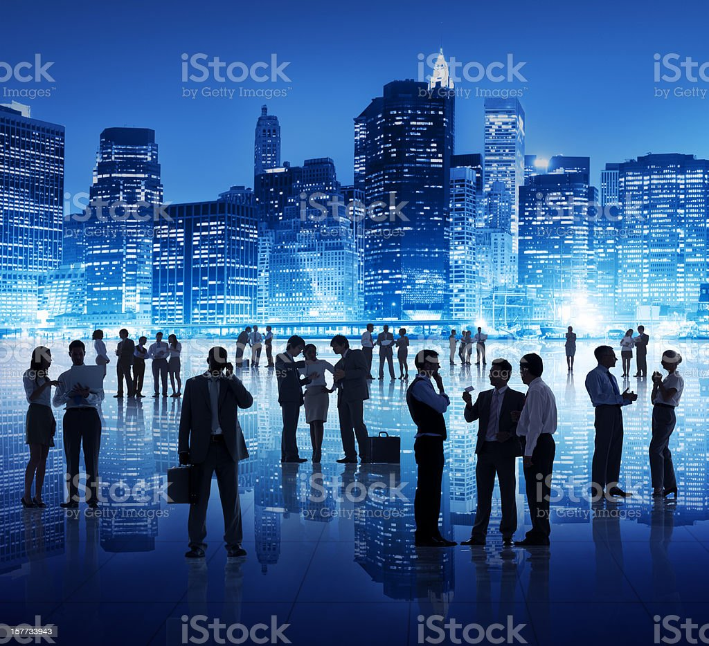 Business People in the City royalty-free stock photo
