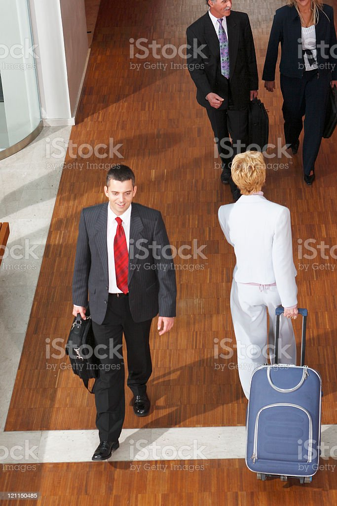 Business people in the move stock photo