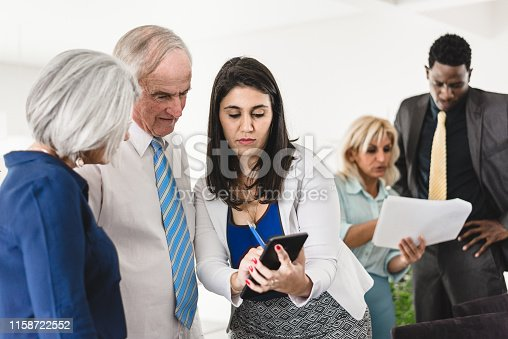 istock Business people in the office 1158722552