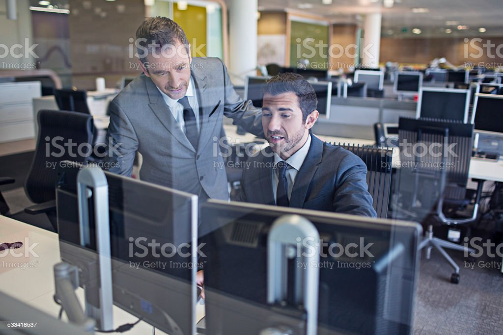 Business people in the office stock photo