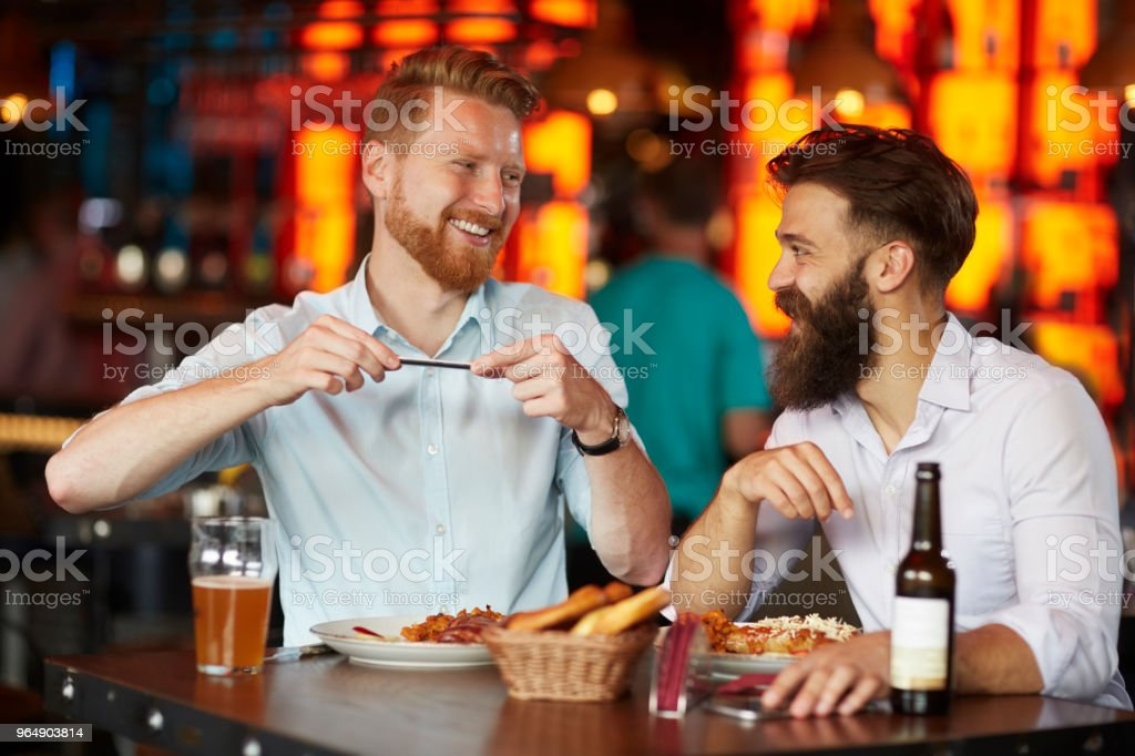 Business people in the restaurant royalty-free stock photo