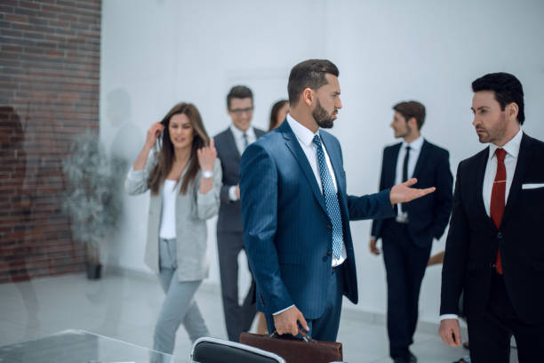business people in the workplace stock photo