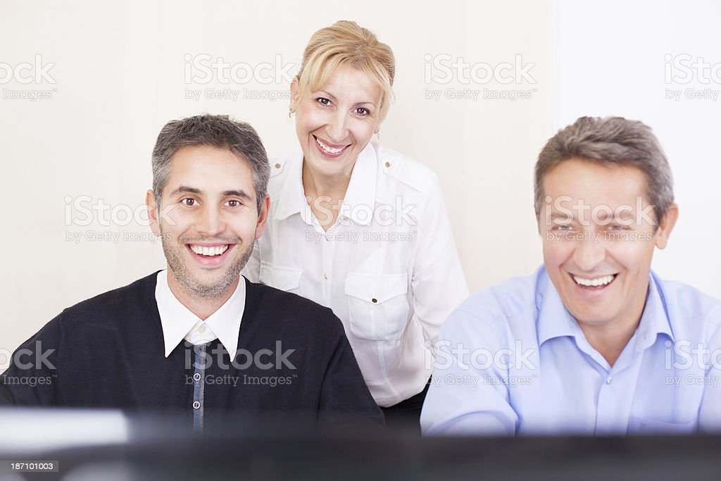 Business people laughing royalty-free stock photo