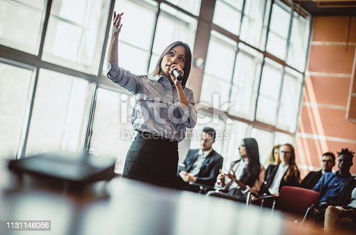 938409136 istock photo Business People Listening to the Public Speaker 1131146056