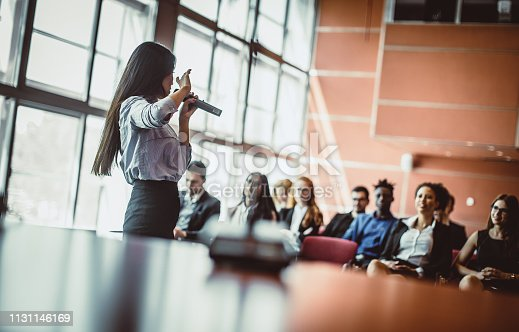 938409136 istock photo Business People Listening to the Public Speaker 1131146169