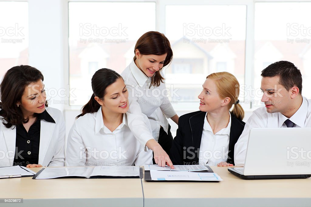 Business people looking to documents. royalty-free stock photo