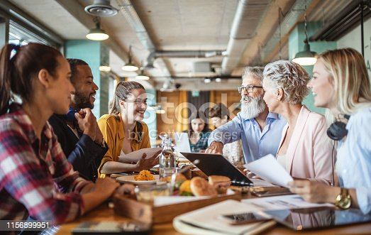 istock Business People Meeting at a Restaurant, Bar 1156899951