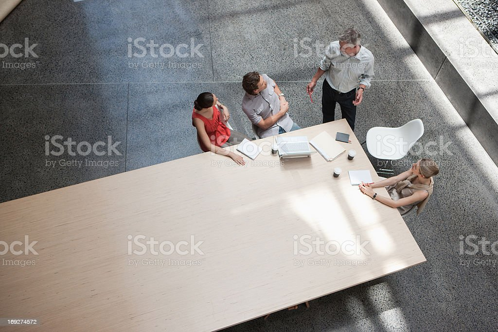 Business people meeting at conference table stock photo