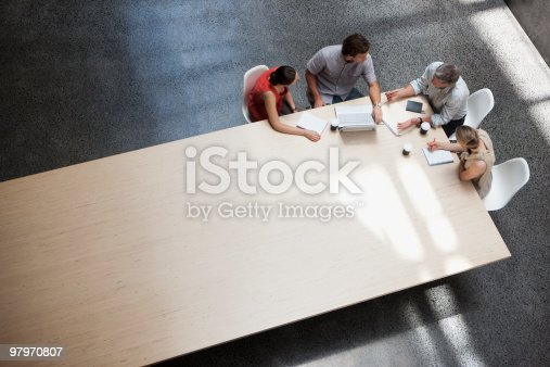 istock Business people meeting at conference table 97970807