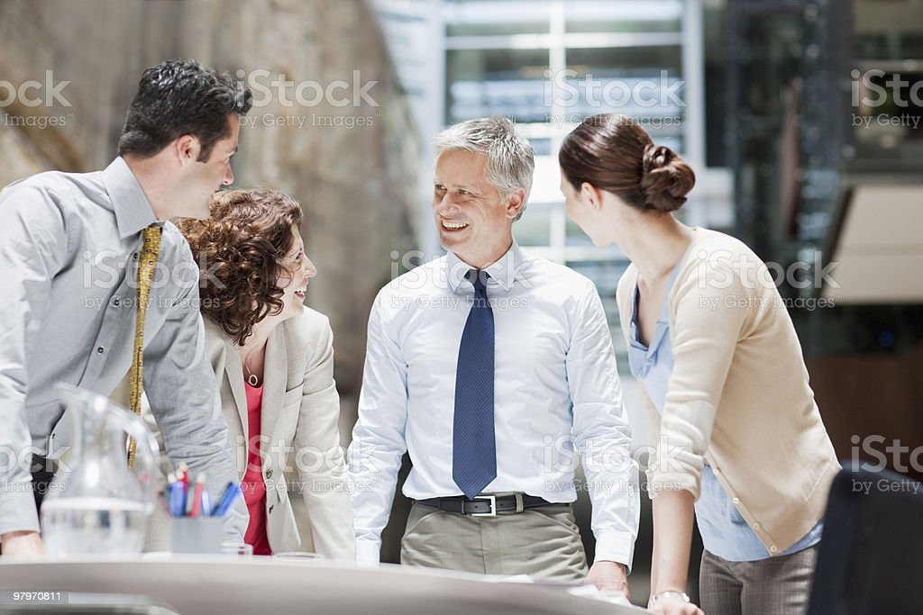 Business people meeting at conference table royalty-free stock photo