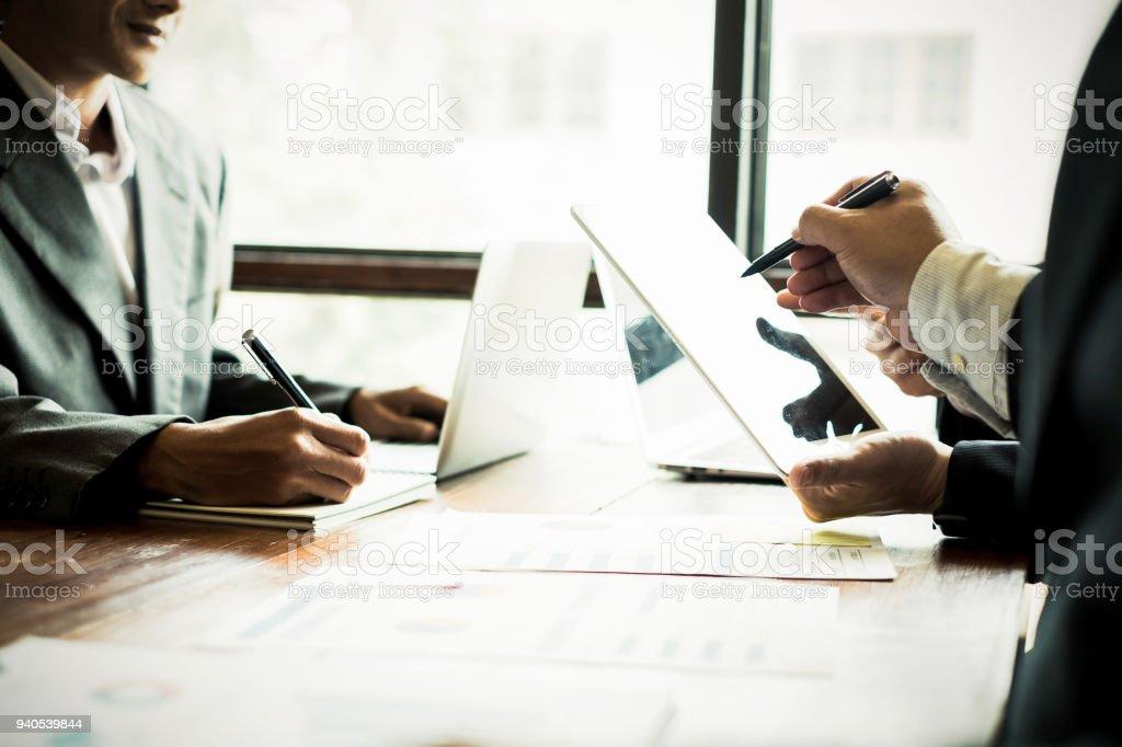 Business-Leute treffen, brainstorming und Diskussion Projekt zusammen in Büro, Teamwork Konzept – Foto