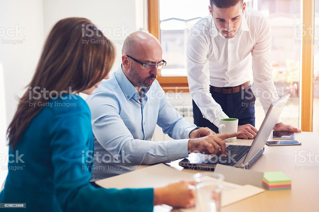Business People Meeting Communication Working Office Concept stock photo