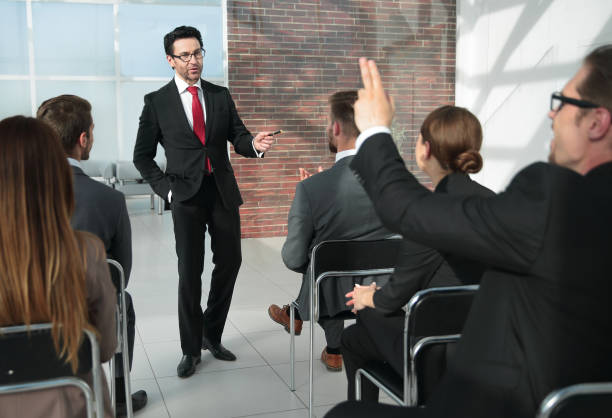 Business People Meeting Conference Seminar Concept stock photo