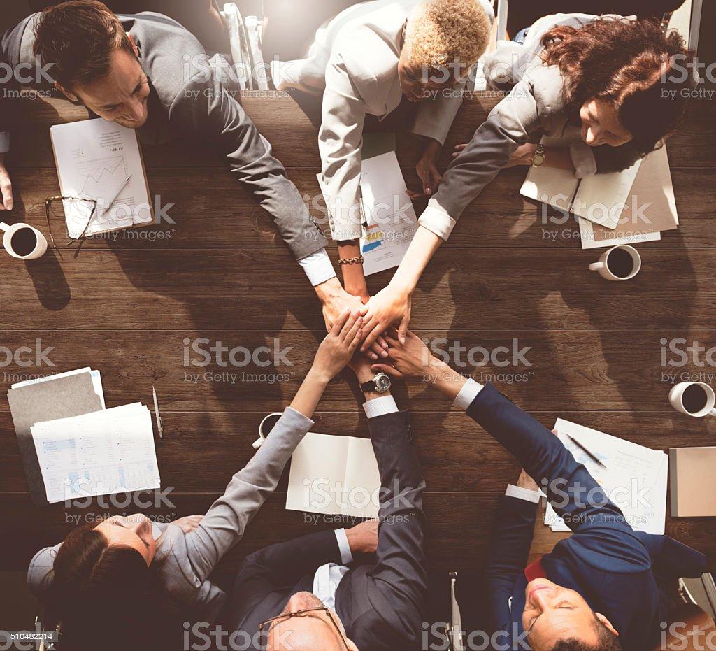 Las personas de negocios, reunión corporativa Concep conexión de unión - foto de stock