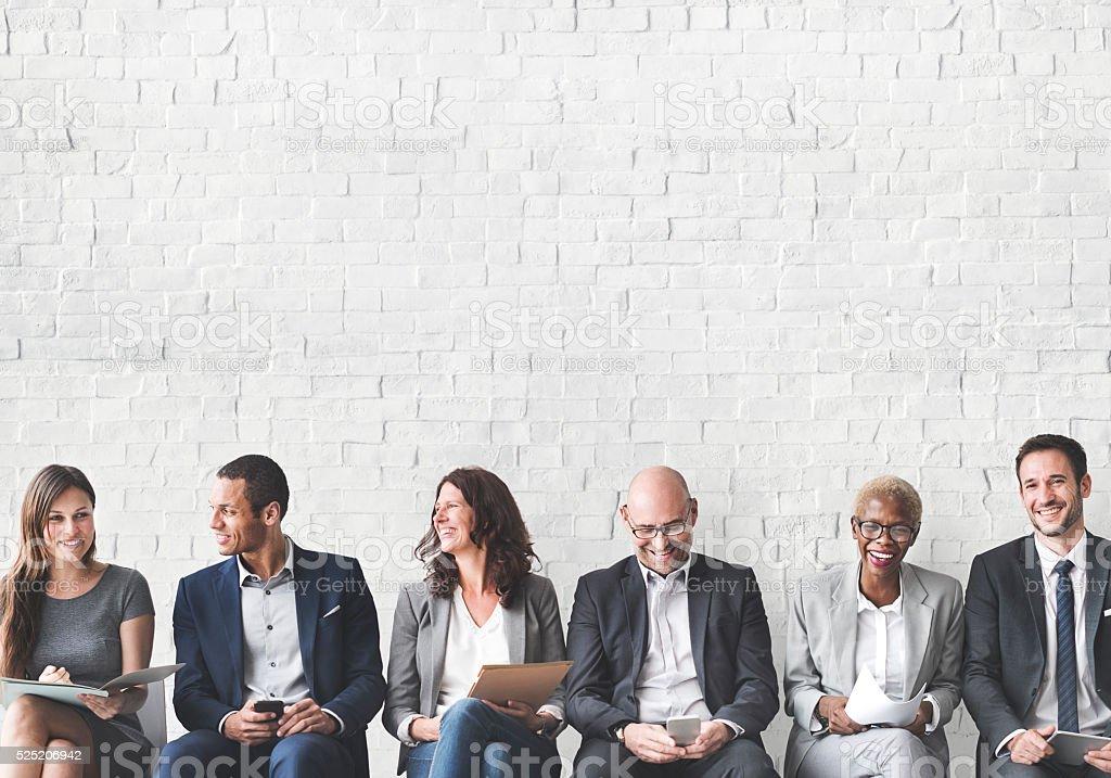 Las personas de negocios, reunión corporativa Conc. de conexión de dispositivo Digital - foto de stock