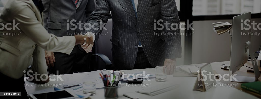 Business People Meeting Corporate Handshake Greeting Concept royalty-free stock photo
