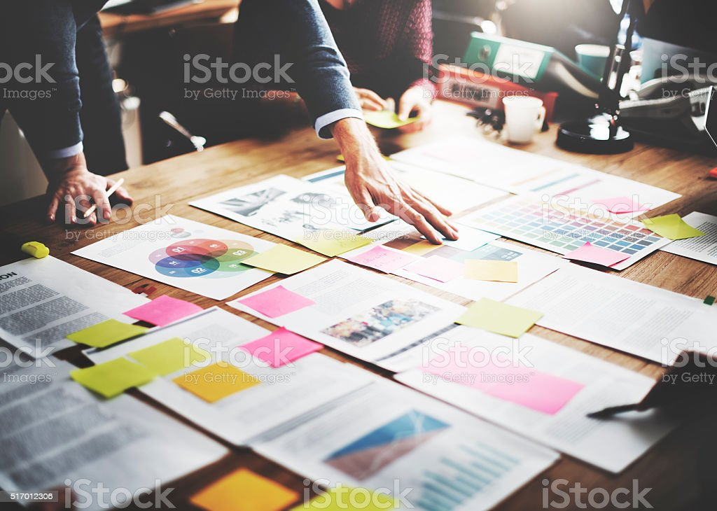 Business People Meeting Design Ideas Concept royalty-free stock photo