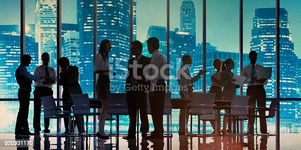 istock Business People Meeting Discussion Cityscape Concept 520331170