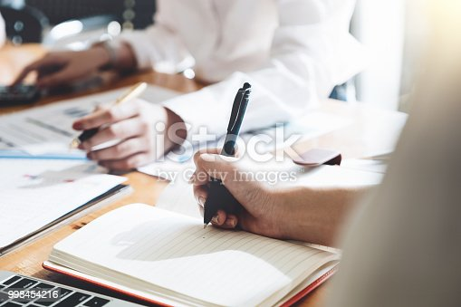 istock Business People Meeting for financial and accounting. business plan meeting concept 998454216