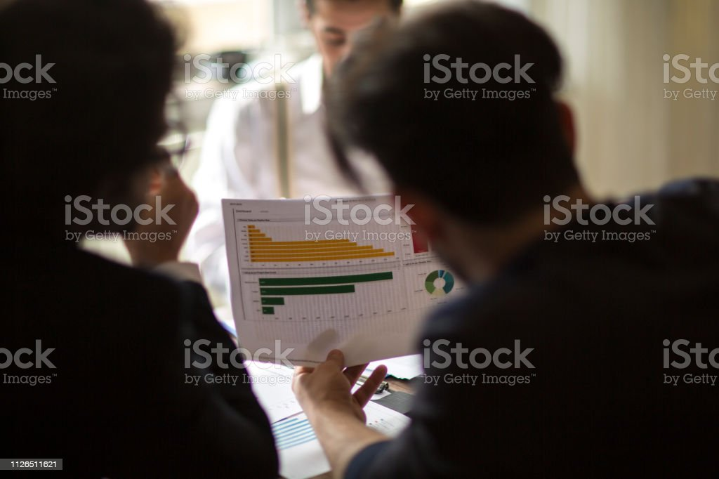 Business People Meeting Growth Success Target Economic Concept