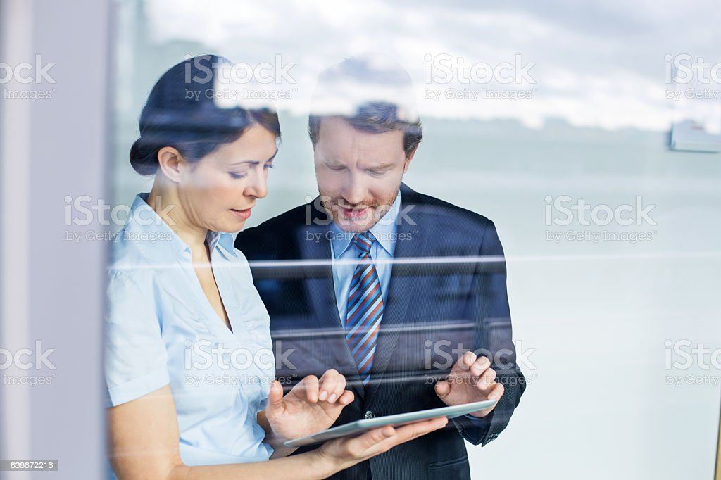 Business people meeting inside office building - foto stock