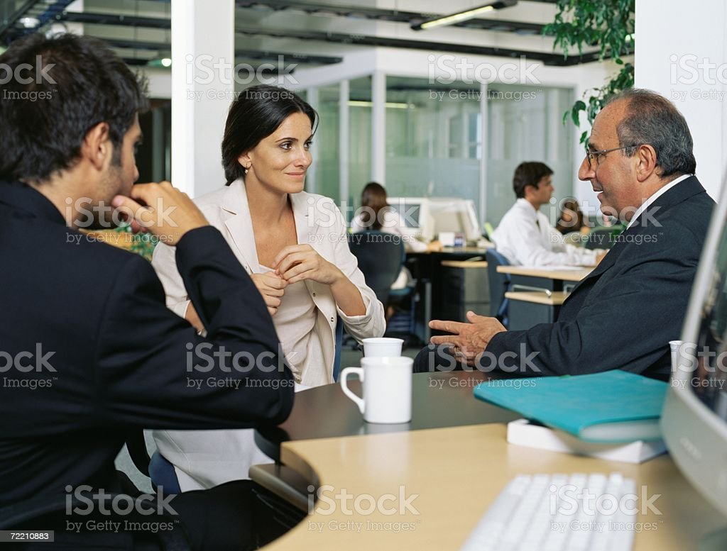 Business people meeting over coffee royalty-free stock photo