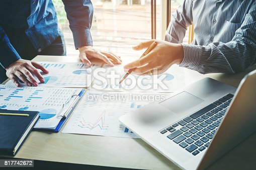 istock Business People meeting Planning Strategy Analysis  Concept  laptop meeting with technology 817742672