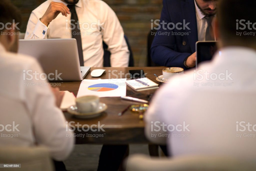 Business People meeting Planning Strategy Analysis Concept laptop meeting with technology - foto stock