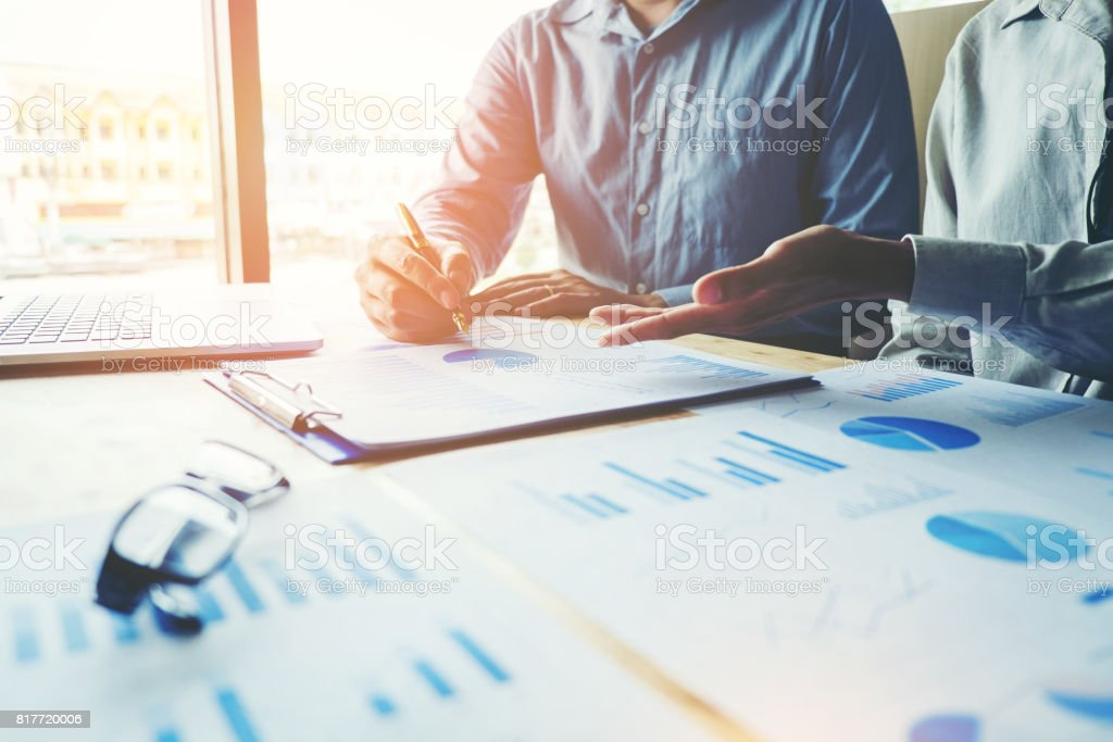 Business People meeting Planning Strategy Analysis  Concept stock photo