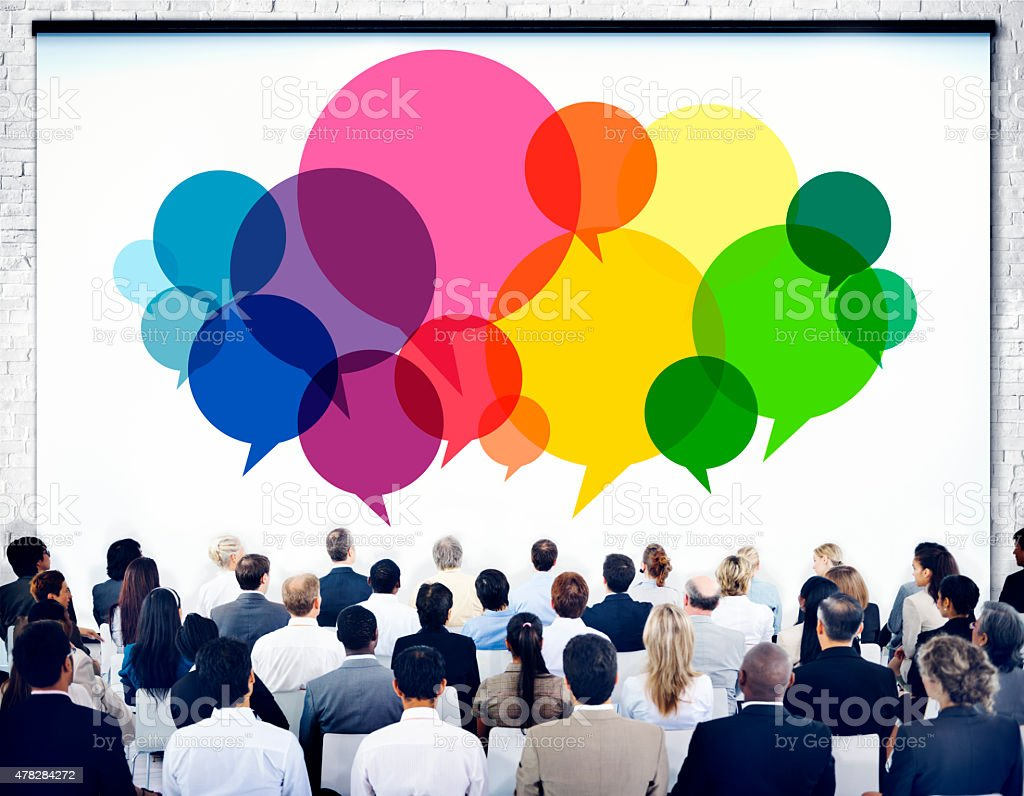 Business People Meeting Presentation Communication Concept stock photo