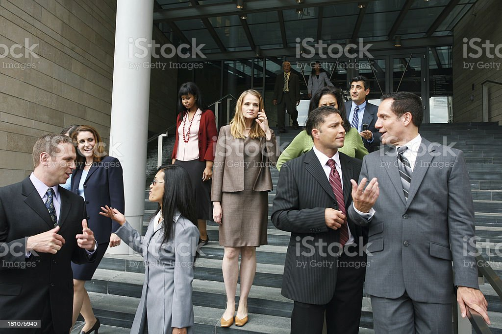Business people networking royalty-free stock photo