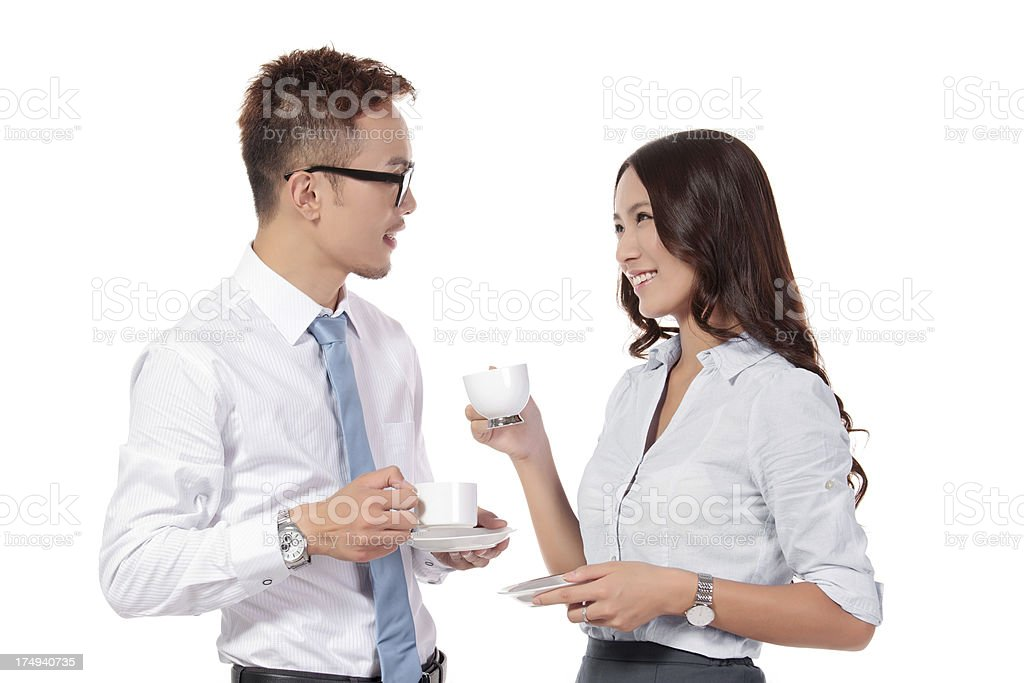 Business People on a Coffee Break royalty-free stock photo