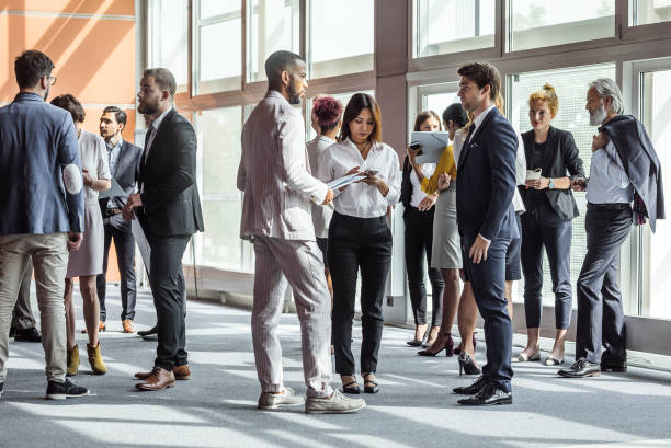 Business People on a Conference stock photo