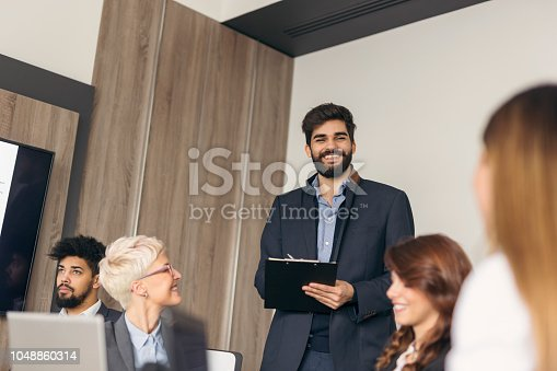 922512798 istock photo Business people on a meeting 1048860314