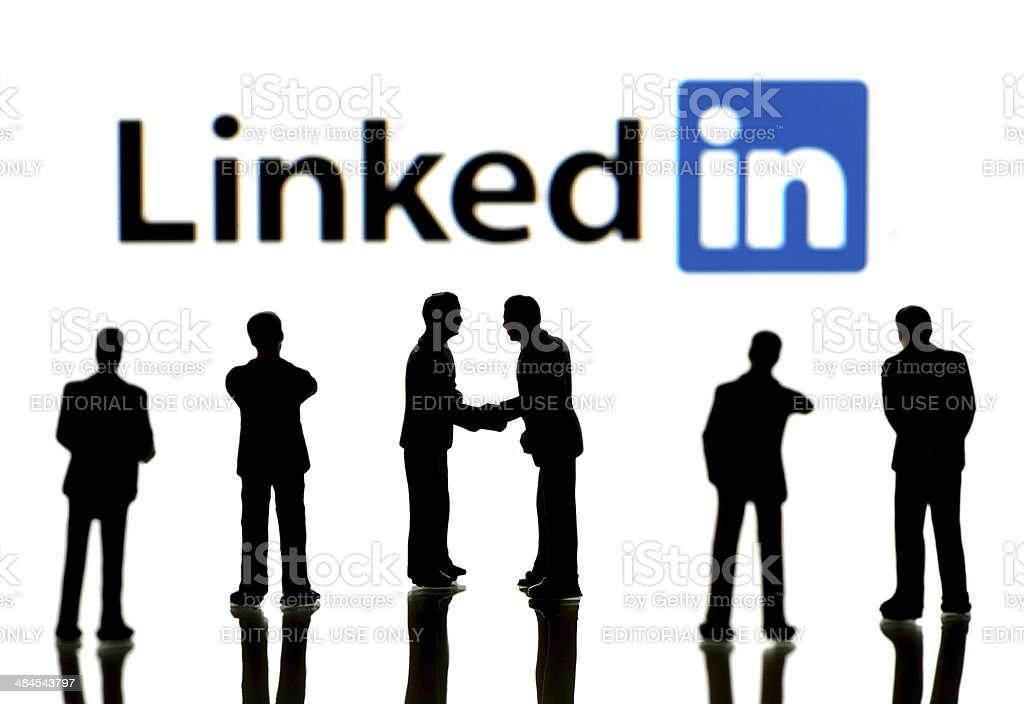 Business people on LinkedIn stock photo
