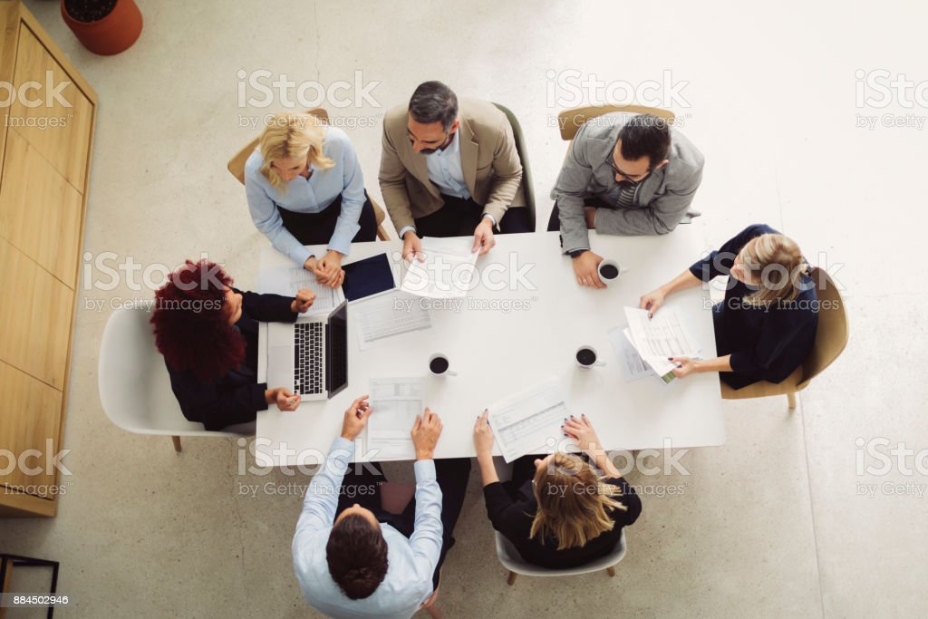 Business People On Meeting stock photo