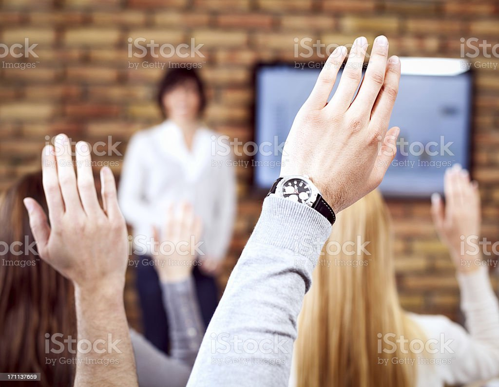 Business People On Seminar royalty-free stock photo