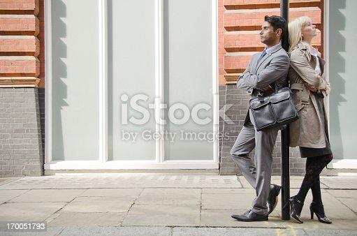 istock Business People On The Sidewalk 170051793